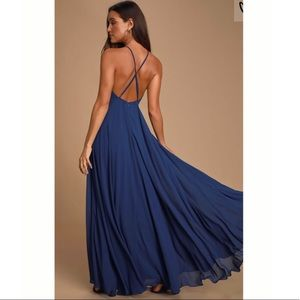 Lulu's Dresses - Mythical Kind of Love Navy Blue Maxi Dress